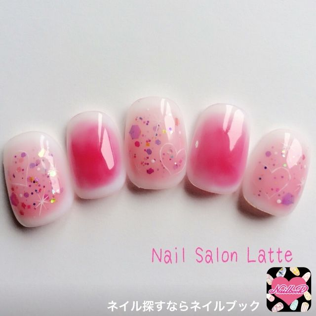 new two colours nail art for short nails