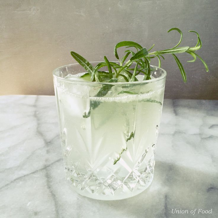 Rosemary and Cucumber Gin and Tonic our version! More on unionoffood.com Let's enjoy Summer, we deserve it!
