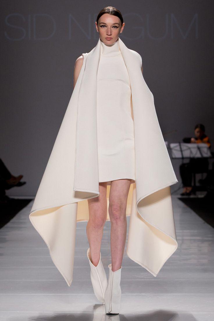 Sid Neigum Fall 2014: The designer takes fabric manipulation to new heights   FASHION magazine