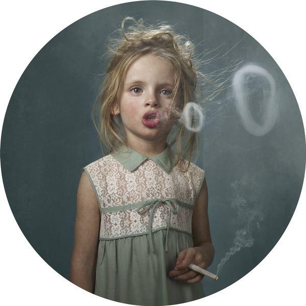 Smoking Kids: Photographer Frieke Janssens' Disturbing Exhibition Questions Youth Culture (PHOTOS)