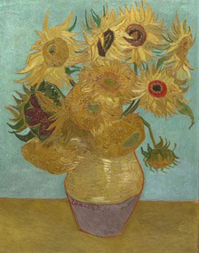 "Introducing ""Check In To A Masterpiece"". A Foursquare program that allows you to check in to 12 famous artworks throughout Philadelphia. Enter to win a grand art-themed prize! (Sunflowers, 1888 or 1889. Vincent van Gogh. Image courtesy Philadelphia Museum of Art.)"