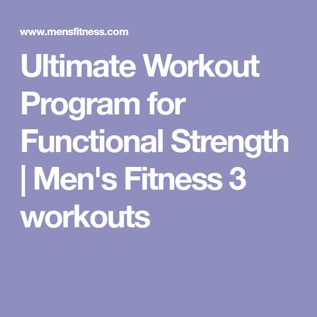 Ultimate Workout Program for Functional Strength | Men's Fitness 3 workouts