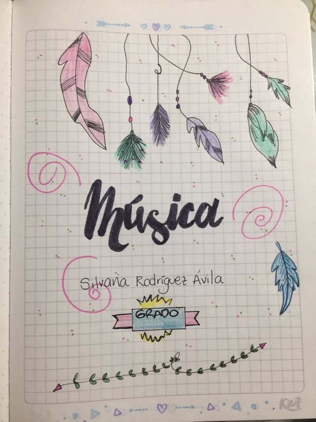 Ideas Para Marcar Cuadernos Portadas De Musica Portada De Cuaderno De Ciencias Portada De Cuaderno De Dibujos