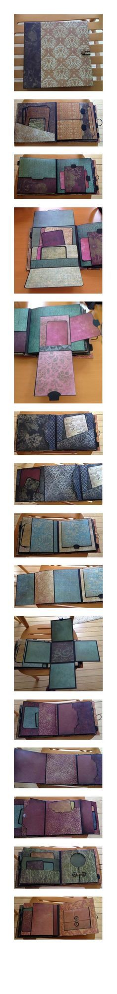 """8 x 8 mini album - inspired by many but especially Kona Raven; using the Paper Studio """"Tattered and Worn"""" papers"""