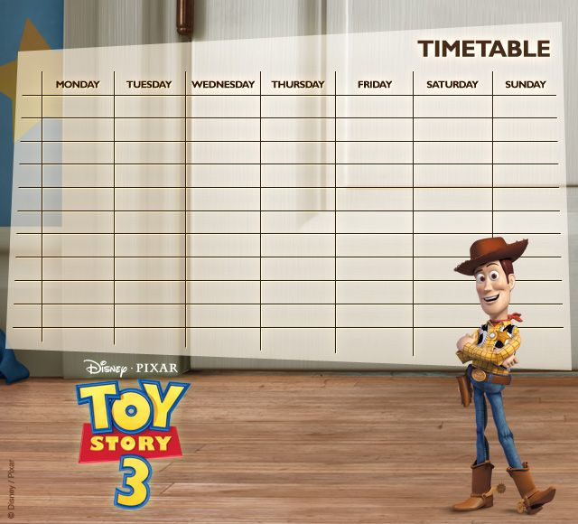 Toy Story Timetables 04