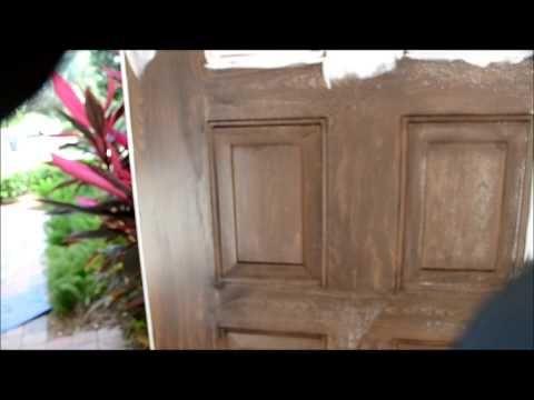 faux wood painting doors florida painting fake faux wood garage doors - YouTube
