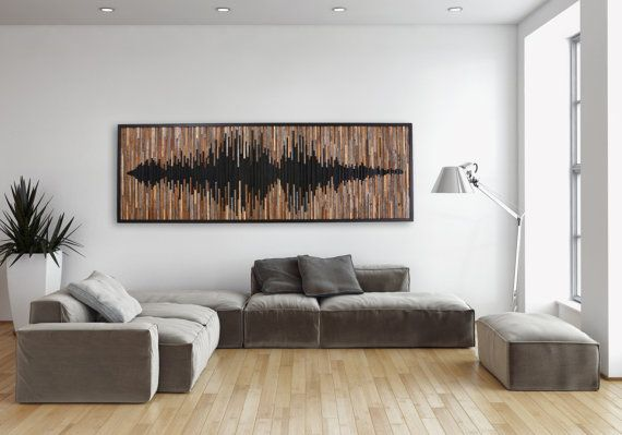 Wood wall art abstract sound wave Different von CarpenterCraig