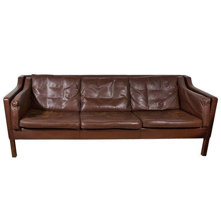 Mogensen Dark Chocolate Vintage Leather Sofa