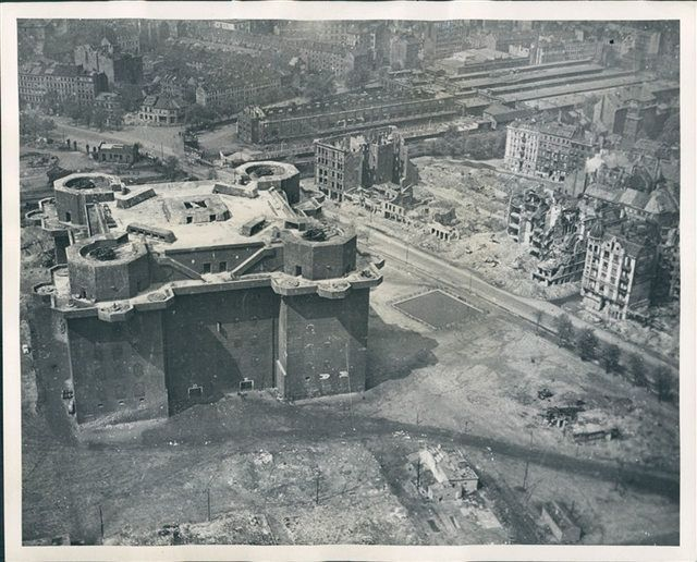 Zoo Flak Tower in Berlin after being bombed by Allied Planes, 1940s Imgur World War Two