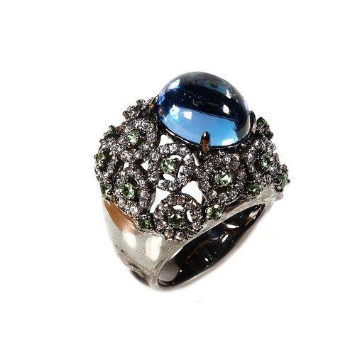 Стайл Авеню - Silver Rubies Sapphire : Кольцо(RSJ104)