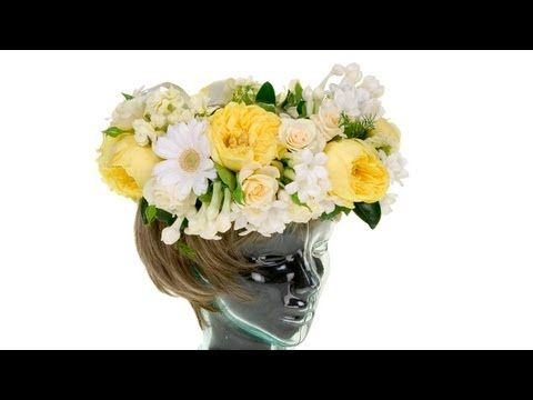 Floral Crown, the hottest trend in wedding flowers - YouTube  Beautiful garden roses and stephanotis vine from Florabundance.com