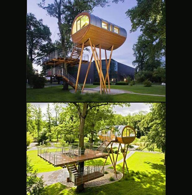 Casa piernas de Araña: Alemania  #Arquitectura #Sustentable