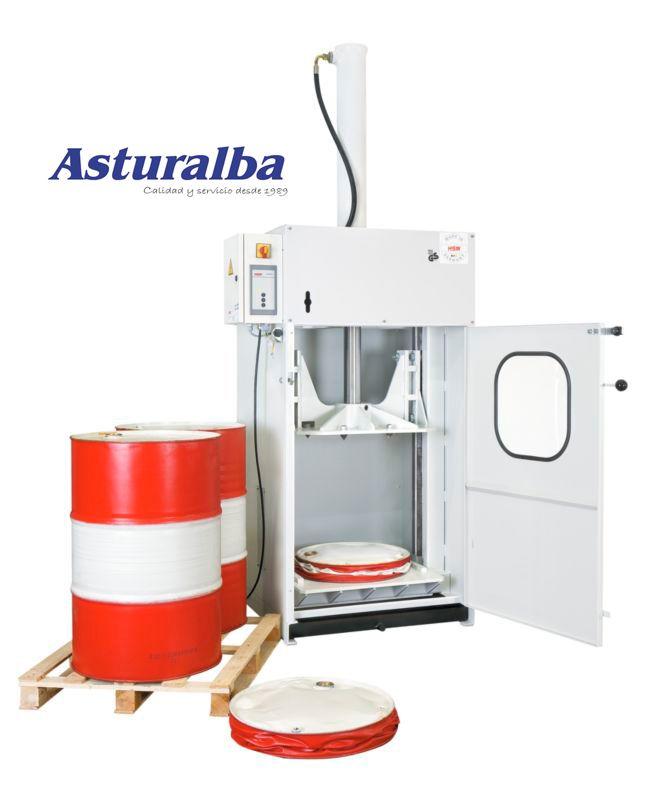 http://www.asturalba.com/maquinas/prensas/prensas_para_bidones/prensas_para_bidones.htm Prensa compactadora para bidones FP 3000