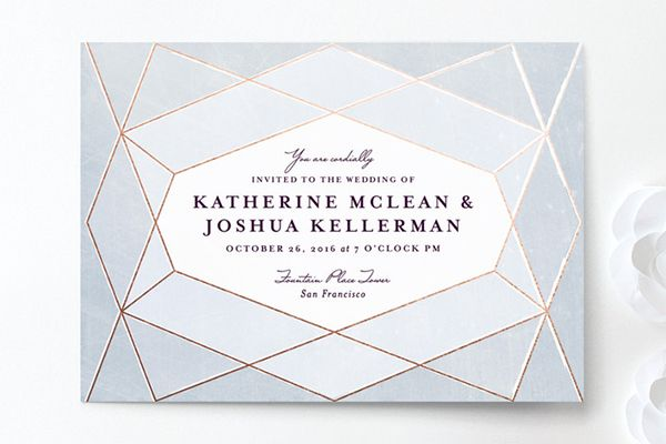 Abstract Jewel invitation by Rebecca Bowen for Minted
