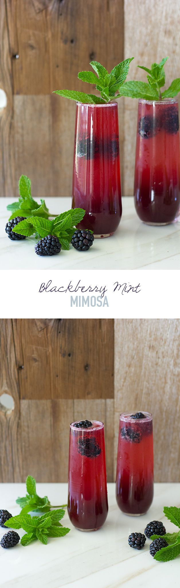 Blackberry Mint Mimosa - a summery spin on the classic mimosa that makes perfect use of the season's fresh produce. | www.brighteyedbaker.co...