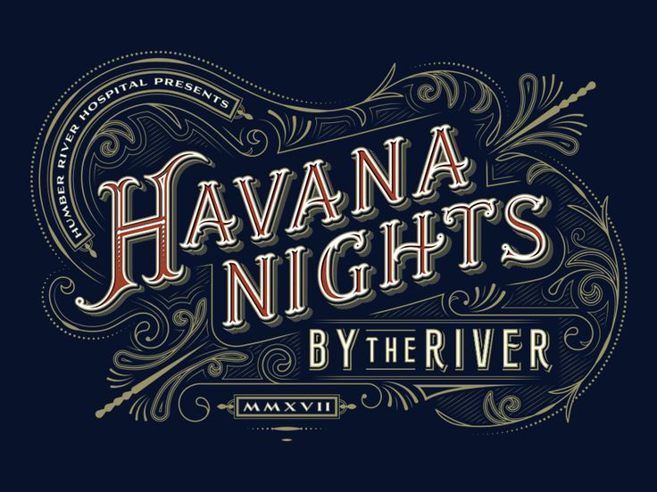 Lettering piece for a Humber River Hospital charity event. AD: Sean MacLean, Central Station.
