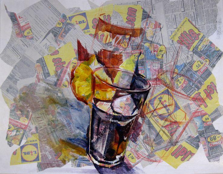 Olga Vinnitskaya. Stockmar Aquarellfarben. Collage auf Papier.