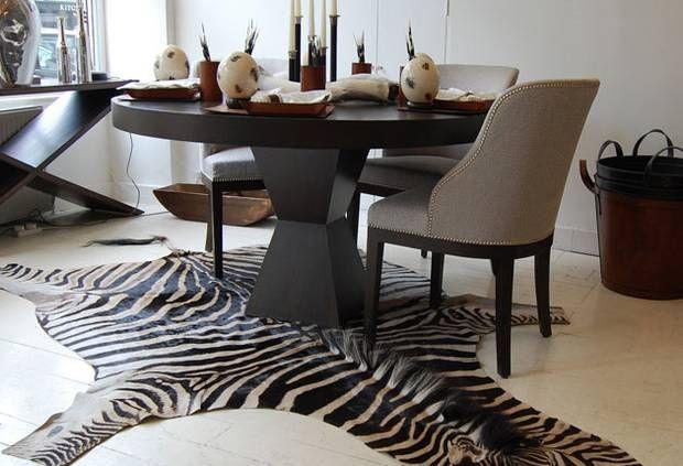 Zebra hide rug  www.sebraskinn.no
