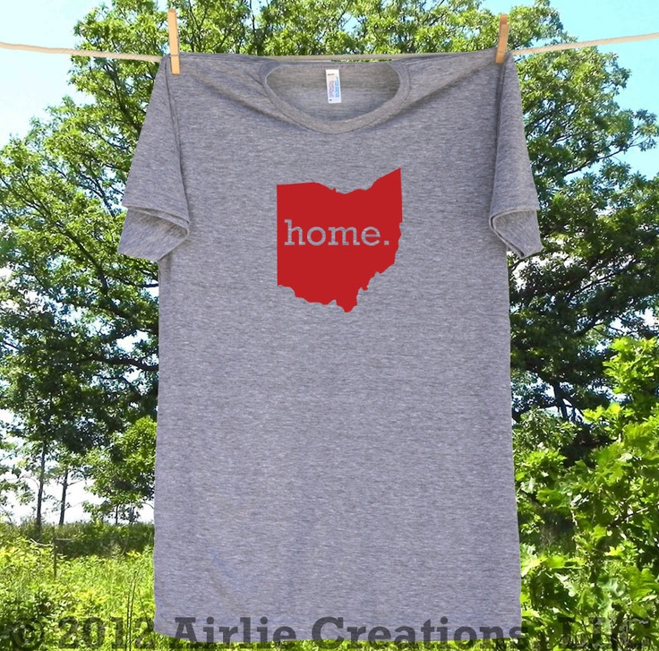 Ohio Home State tshirt Special Edition Red Blue by HomelandTees