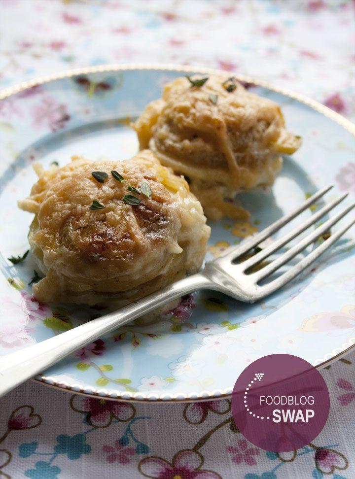 Foodblogswap: Pastinaak-aardappel taartjes