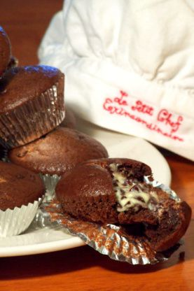 Chocolate presentation PA Dutch style.  We grew up with these cupcakes as a favorite chocolate-delivery-vehicle.