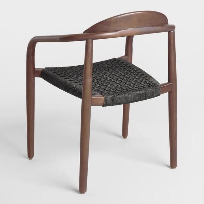 Charcoal Gray Woven Aimee Dining Chair Set of 2 - v4