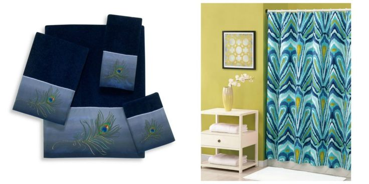 peacock themed bathroom decor