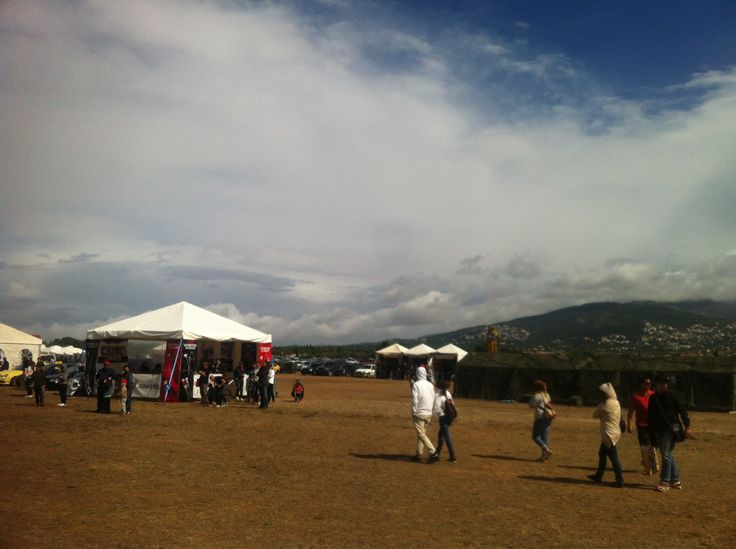 Cloudy and rainy weather today at Tatoi during the airshow