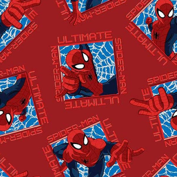 Ultimate Spider-man Badge Toss Fabric