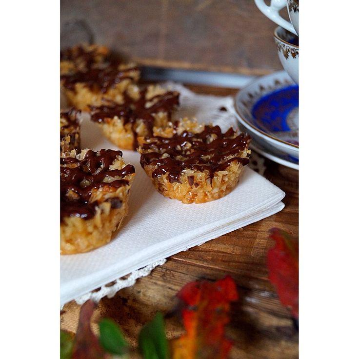 Herrhavreflarn - Knäckiga havre och kokos-kolakakor med mörk choklad.