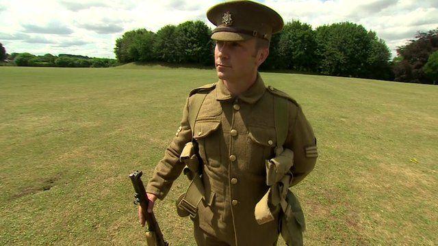 WWI British soldier's kit