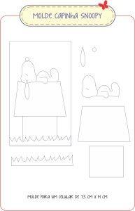 Capinha para Celular do Snoopy Passo a Passo » Menina Arteira By Eli