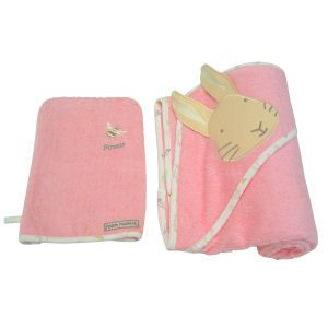 Peter Rabbit - Girls Hooded Towel & Wash Mitt. Product code: PR1028