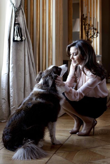 Crown Princess Mary of Denmark and her Border Collie Ziggy