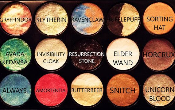 Harry Potter Themed Eyeshadow Palette, 15 Pieces, Beautifully Assorted, Natural, Vegan and Cruelty Free!