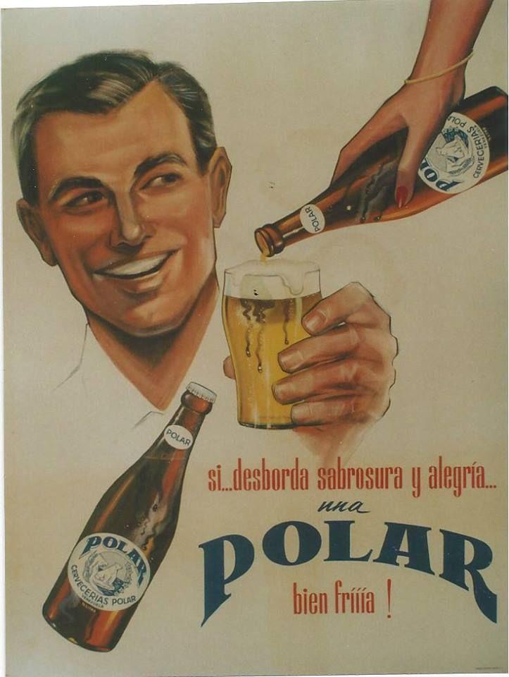 antigua publicidad cerveza Polar