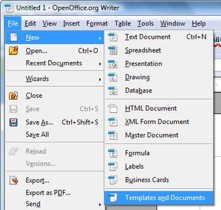 Make your own templates in Open Office