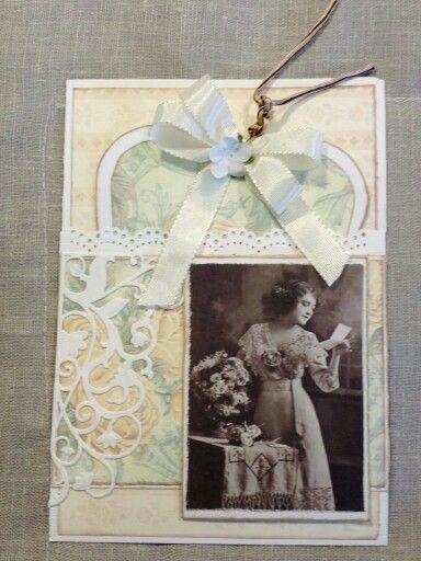 vintage look card, scrapcard