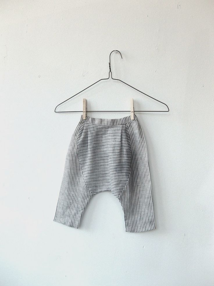 linen pants black and white stripe | Wolfechild