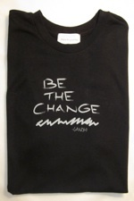 free to be yoga tees 'be the change' men's short sleeve tee