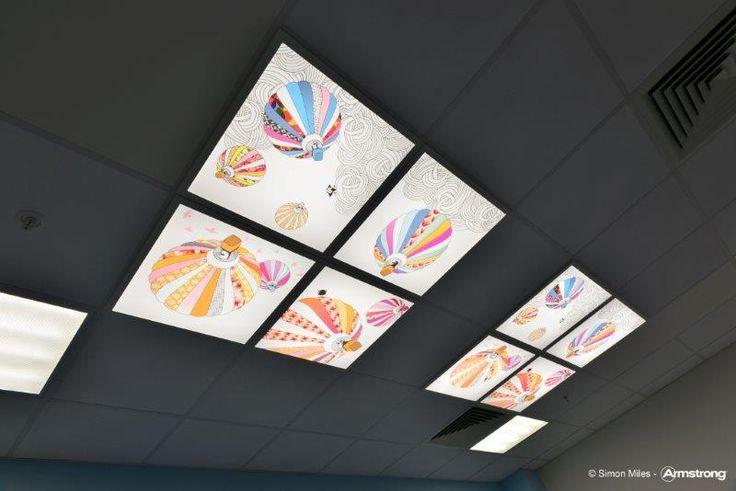 New Queen Elizabeth University Hospital Glasgow, sufity podwieszane, sufit akustyczny, ceiling, acoustic, służba zdrowia