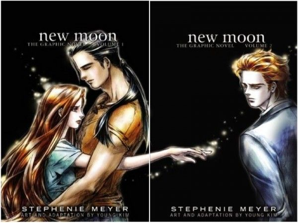 New Moon Graphic Novel. I love the picture of Bella and Jacob and Edward illustrated by Young Kim