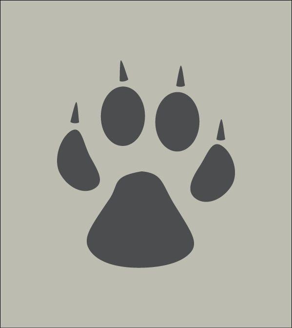 Patte de chien. Trace, empreinte. Pochoir en vinyle adhésif. (ref 142) : Décoration d'intérieur par larabesque