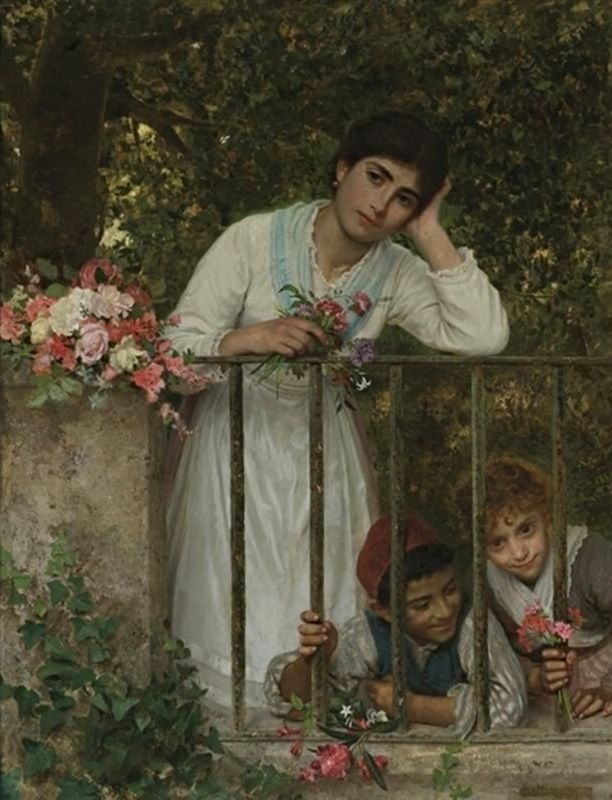 The Athenaeum - Gathering Bouquets (Sophie Anderson - )