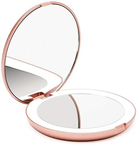 New Fancii Led Lighted Travel Makeup Mirror 1x 10x Magnification