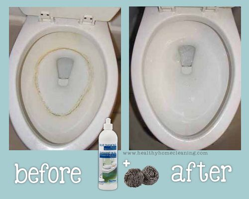 Norwex Blue Diamond Cleaner - Before and After in your rusty toilet!  Blue Diamond and other Norwex products can be purchased from my website ... www.MarthaT.Norwex.biz!