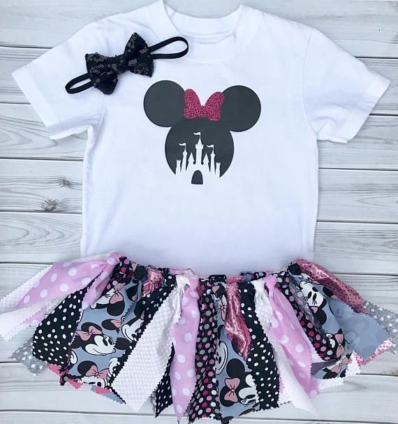 Disney Vacation Outfit. Minnie Mouse First Birthday Outfits.