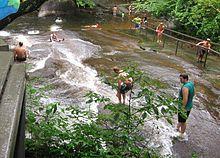 Sliding Rock, NC- A natural waterfall slide