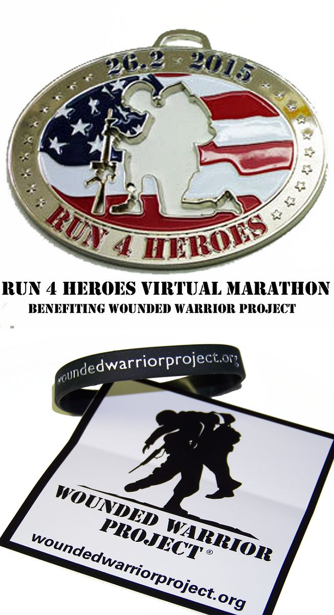 Join the Run 4 Heroes virtual run and benefit the Wounded Warrior Project. Stickers and bracelets will be mailed out to random participants. Everyone who joins receives a medal!