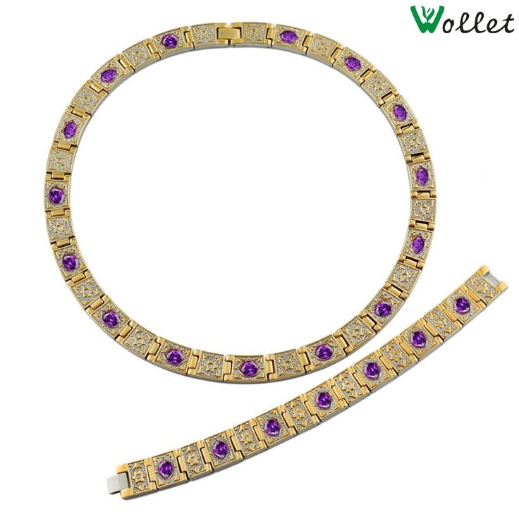 Find More Jewelry Sets Information about Wollet Jewelry 2015 wide gold plated purple crystal  titanium chunky gold necklace sets jewelry necklaces,High Quality jewelry egg,China necklace pair Suppliers, Cheap jewelry necklace boxes from wollet jewelry on Aliexpress.com